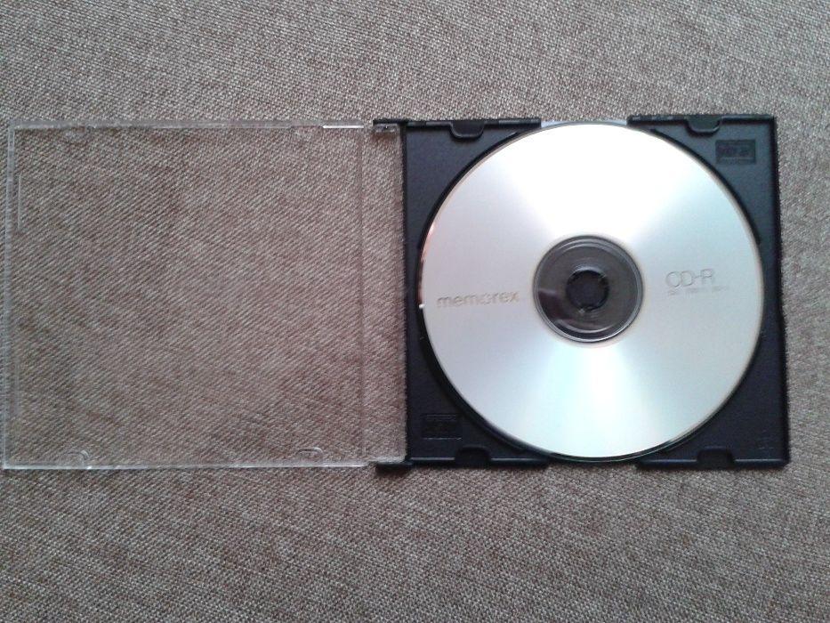 Lote de 5 CD virgens tipo ( -R) c/caixas plásticas