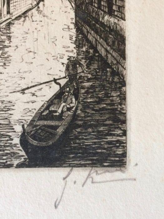 2 Gravuras de Giovanni Korompay – cerca de 1920 São Pedro de Castelões - imagem 8
