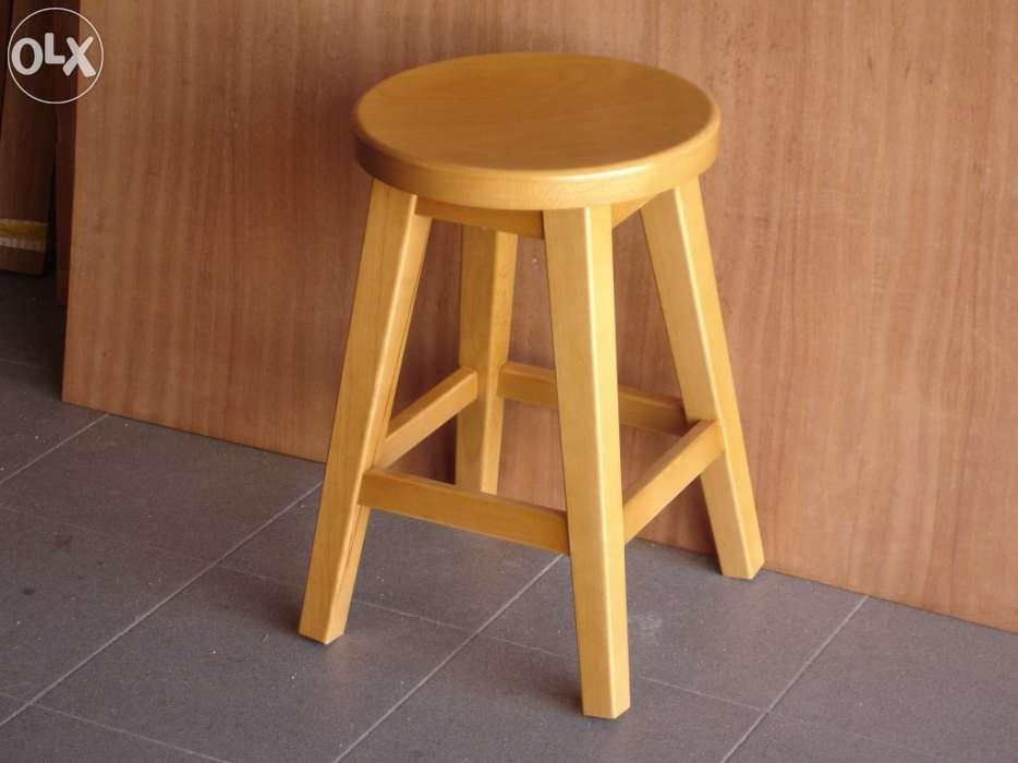 Banco de cozinha madeira solid wood
