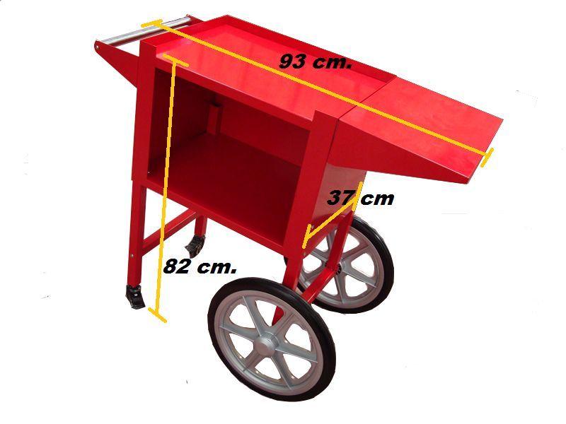 Carrinhos para maquinas de pipocas