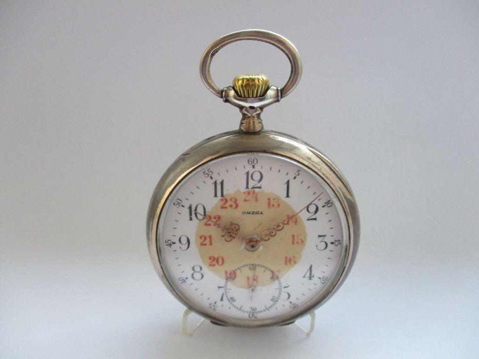 07cd127f92a Relogio de bolso Ano 1902 em Prata - Omega -.