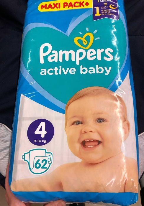 Подгузники памперсы Pampers Active Baby размер 4 (9-14 кг), 62 шт