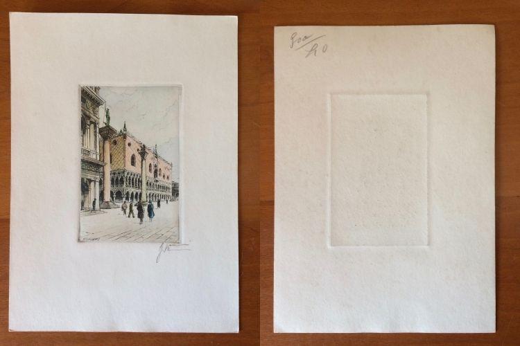 2 Gravuras de Giovanni Korompay – cerca de 1920 São Pedro de Castelões - imagem 1