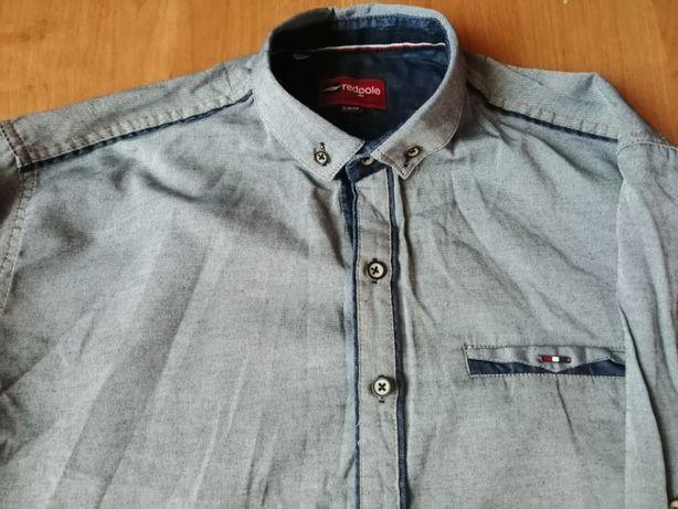 Koszula męska nowa slim, 100% bawełny, wymiary pod pachą  JSl2y