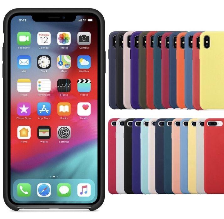 Capa Apple  Silicone IPhone 5S/SE/6/7/8/X/Xs/Xr e 6/7/8 plus XsMax