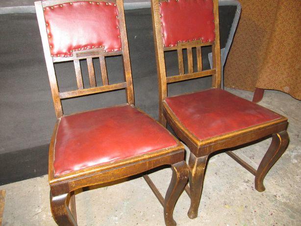 krzesła skóra antyk 4 szt olx