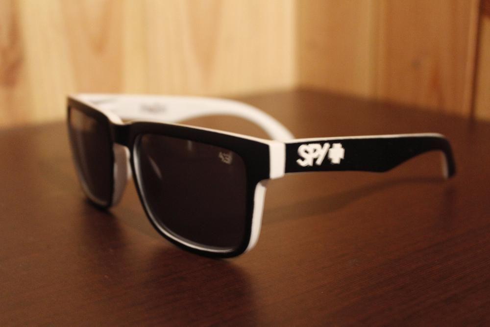 65e4084a27753 Oculos de sol SPY Ken Block - Preto Branco (NOVO)