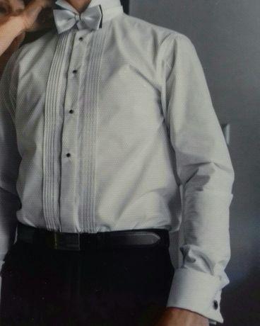 Koszula meska ślubna plus muszka Racibórz • OLX.pl