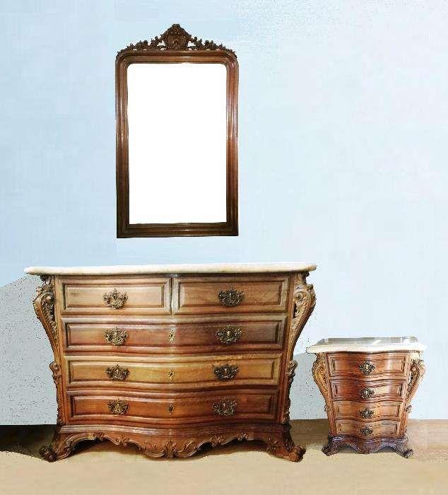 Cómoda, Mesinha e Espelho - conjunto