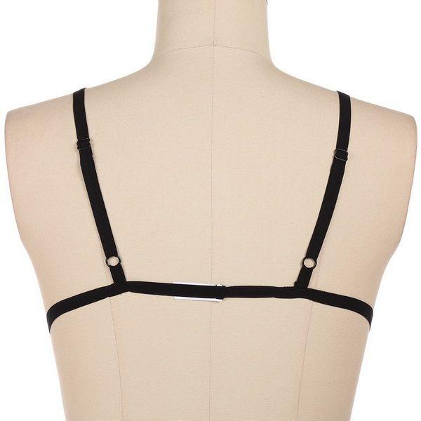 Gothic Strappy Bra soutien- Novo / harness gótico, soutien em tiras Lumiar - imagem 2