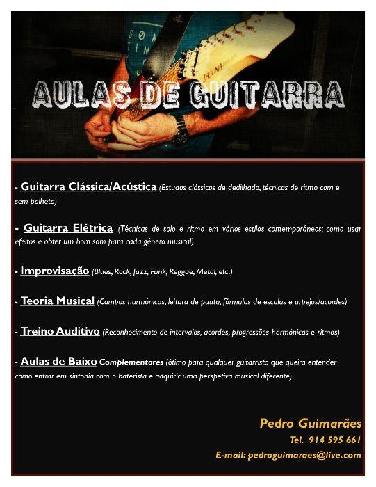 Aulas Particulares de Guitarra e Formação Musical (Lisboa - Alfragide)