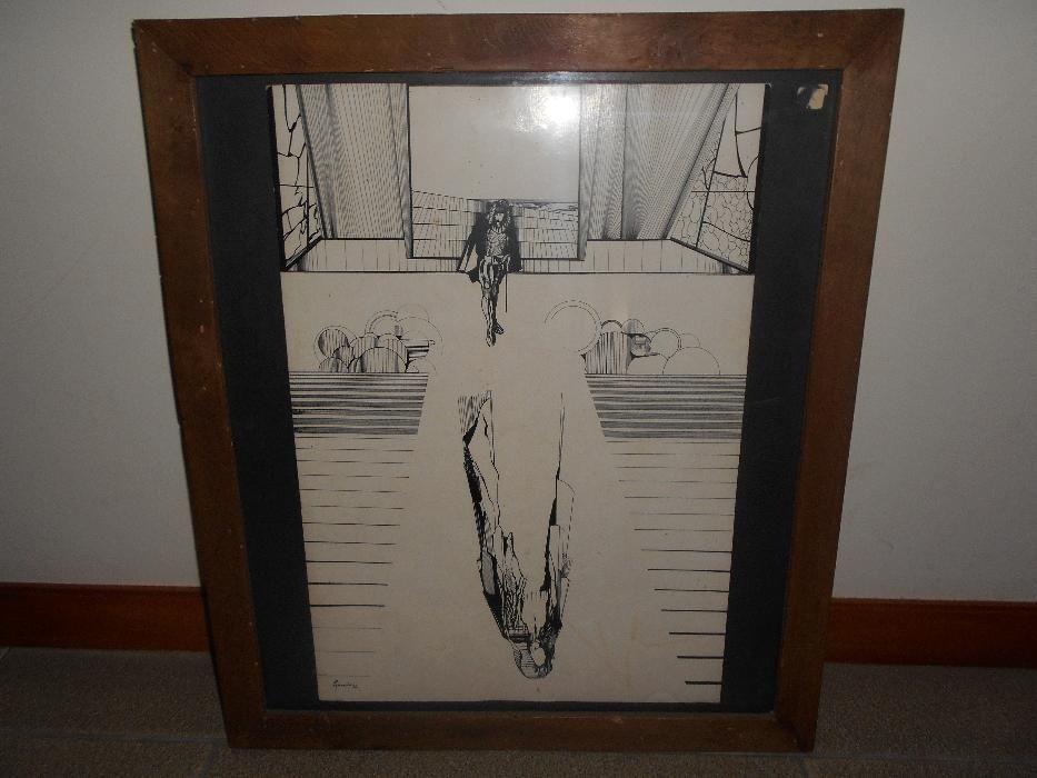 """Obra surrealista de Rui Azevedo """"Cozinha da Bruxa"""", 1976."""