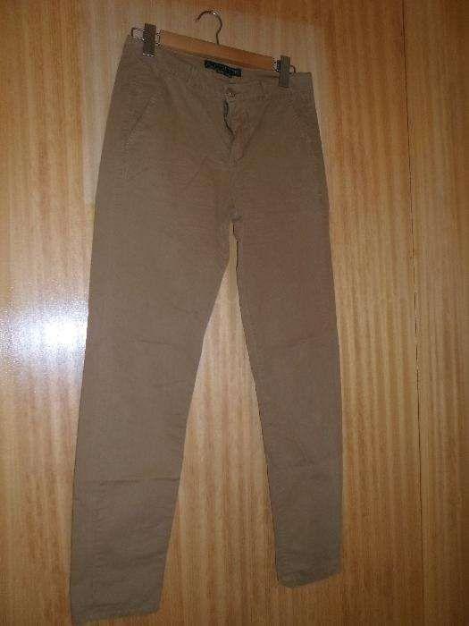 calças de sarja cor cor de mel