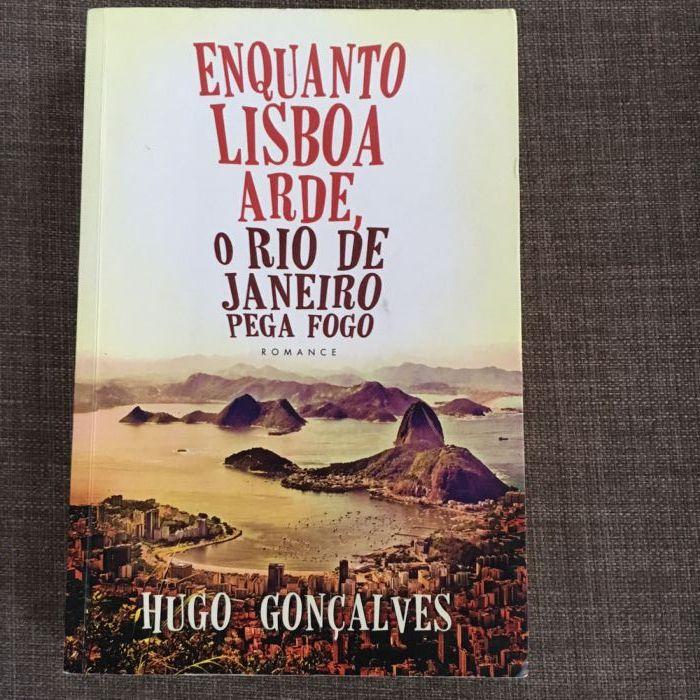 Livro Enquanto Lisboa arde o Rio de Janeiro pega fogo