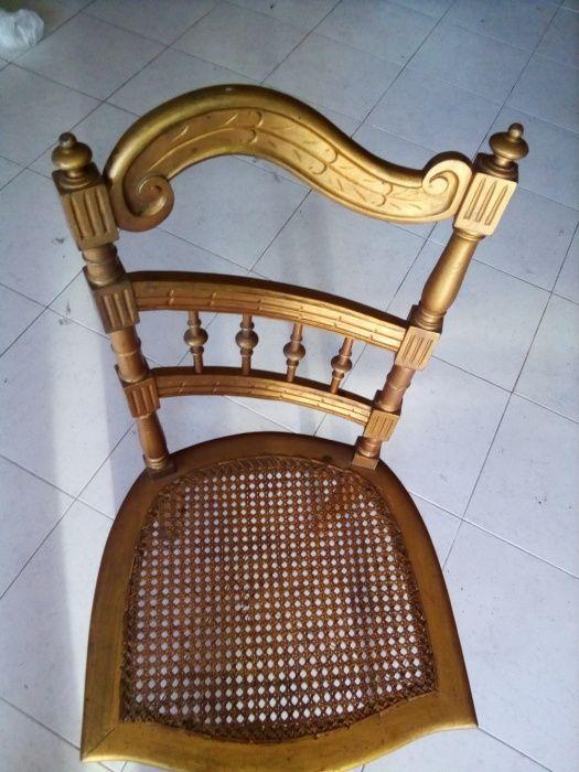 cadeira dourada antiga Sandim, Olival, Lever E Crestuma - imagem 2