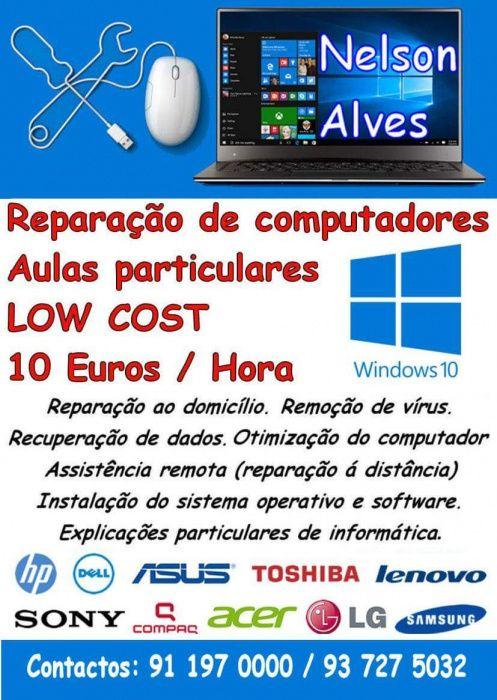 Reparação de Computadores Low Cost - 10 € / Hora