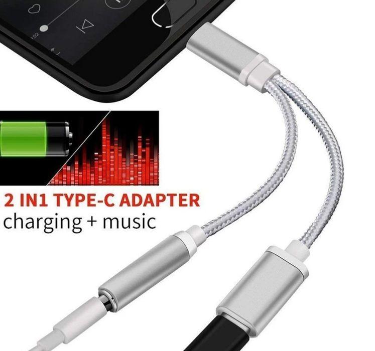 2 w 1 typ USB C do 3.5mm ładowarka gniazdo słuchawkowe