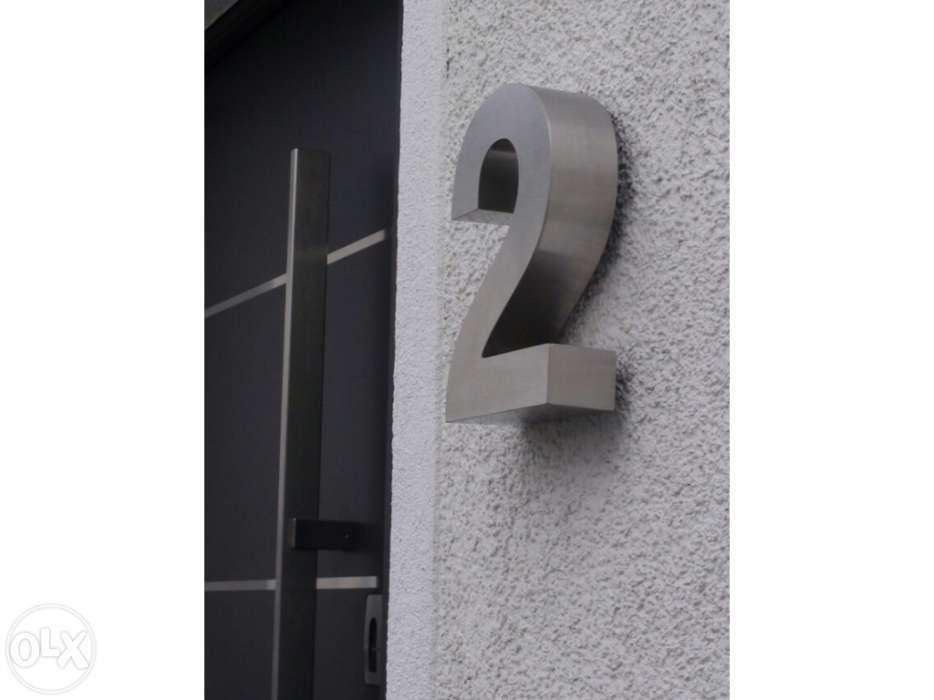 Números residenciais de Inox - Nr. 2 em 3D para Portas ou Entradas