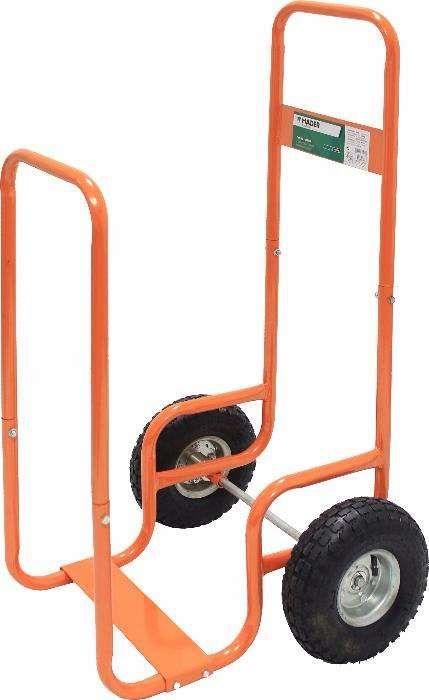 Carrinho de rodas pneumáticas para transporte de lenha / madeira 100kg