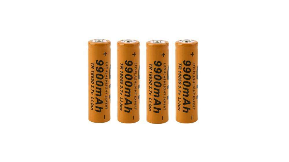 Pilhas recarregáveis 18650 4 Baterias para lanternas Povoa De Varzim - imagem 1