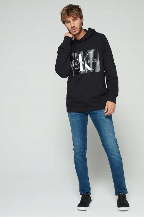 Bluza Kangurka Calvin Klein Jeans Monogram Box Logo Regular