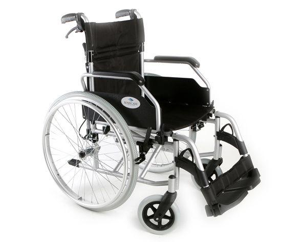 Cadeira de Rodas em Alumínio com Travão de Cuidador