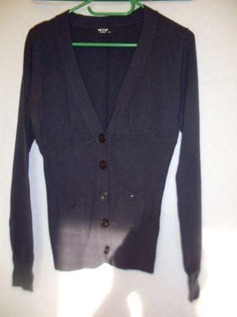 Kw tylko 6,80 Sweter kaszmir i cotton piękny ciemny granat