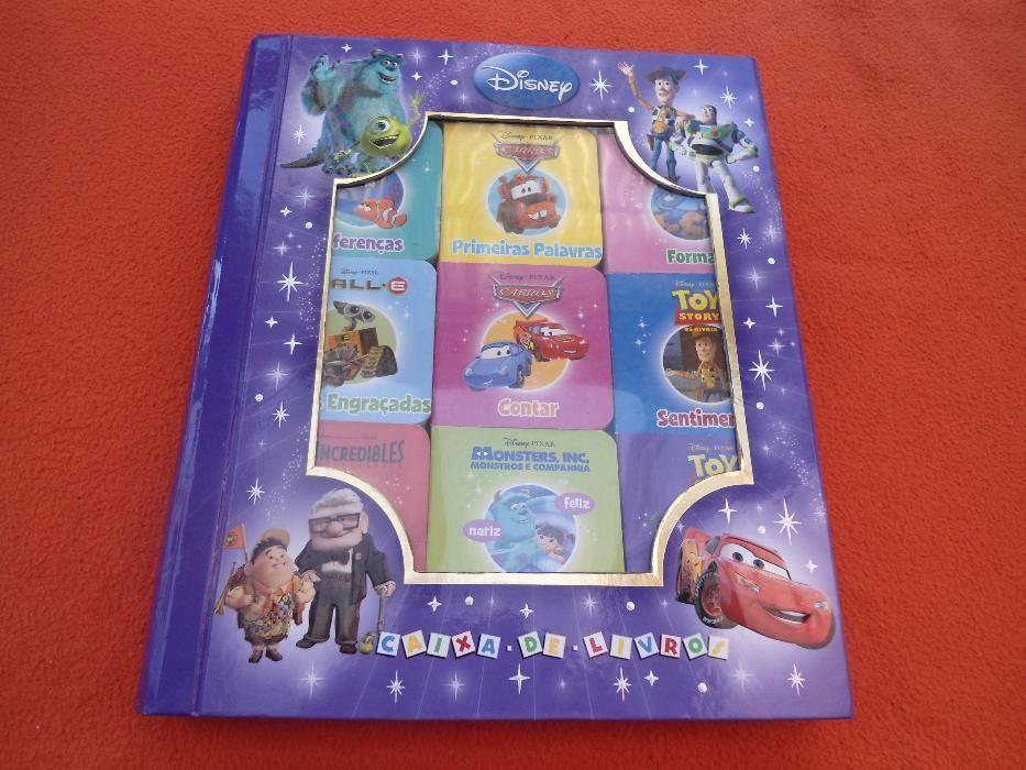 Caixa de livros filmes da Disney
