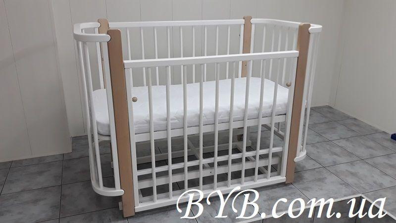 АКЦИЯ!! Приставная кроватка-трансформер с маятниковым механизмом!!!
