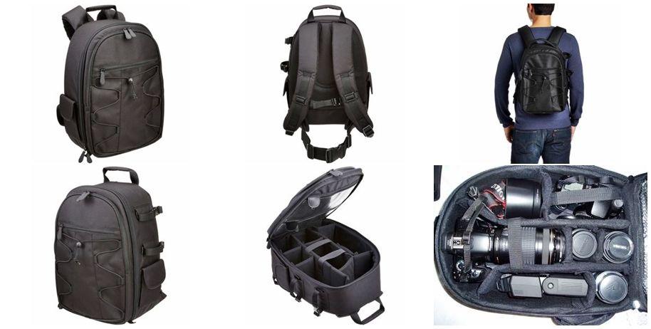 Mochila Bolsa Câmera Fotográfica Lentes Laptop Dslr Backpack