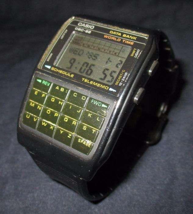 29e0ab91233 Relógio de pulso Casio DBC-62 Databank Calculator 1985