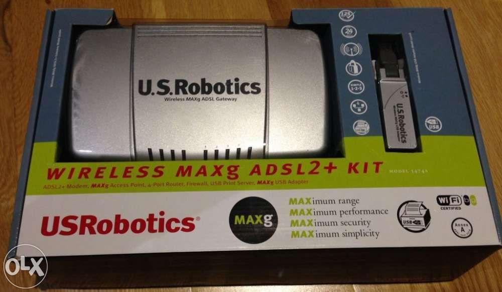 Router adsl2+ wireless + usb adpater us robotics