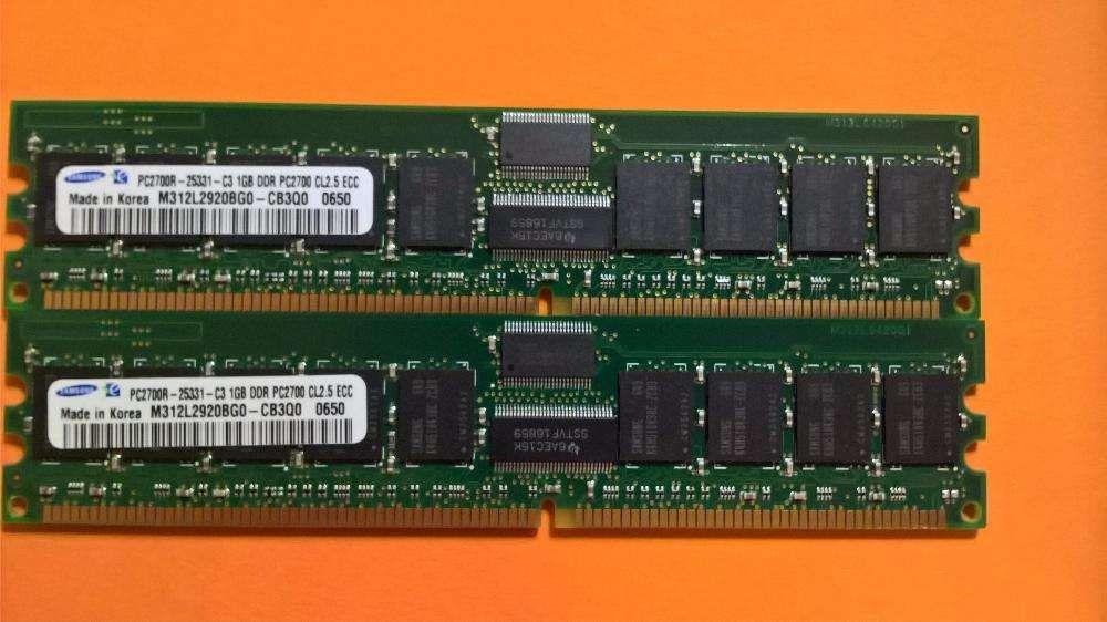 2X Samsung 1GB 1Rx4 PC2700R-25331-C3- CL2.5 DDR (333Mhz) –Valor( 2 ) Amadora - imagem 4