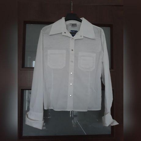 Biała koszula na srebrne zatrzaski z Reserved w Koszule