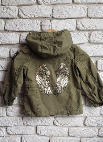 kurtka parka dziewczeca skrzydła