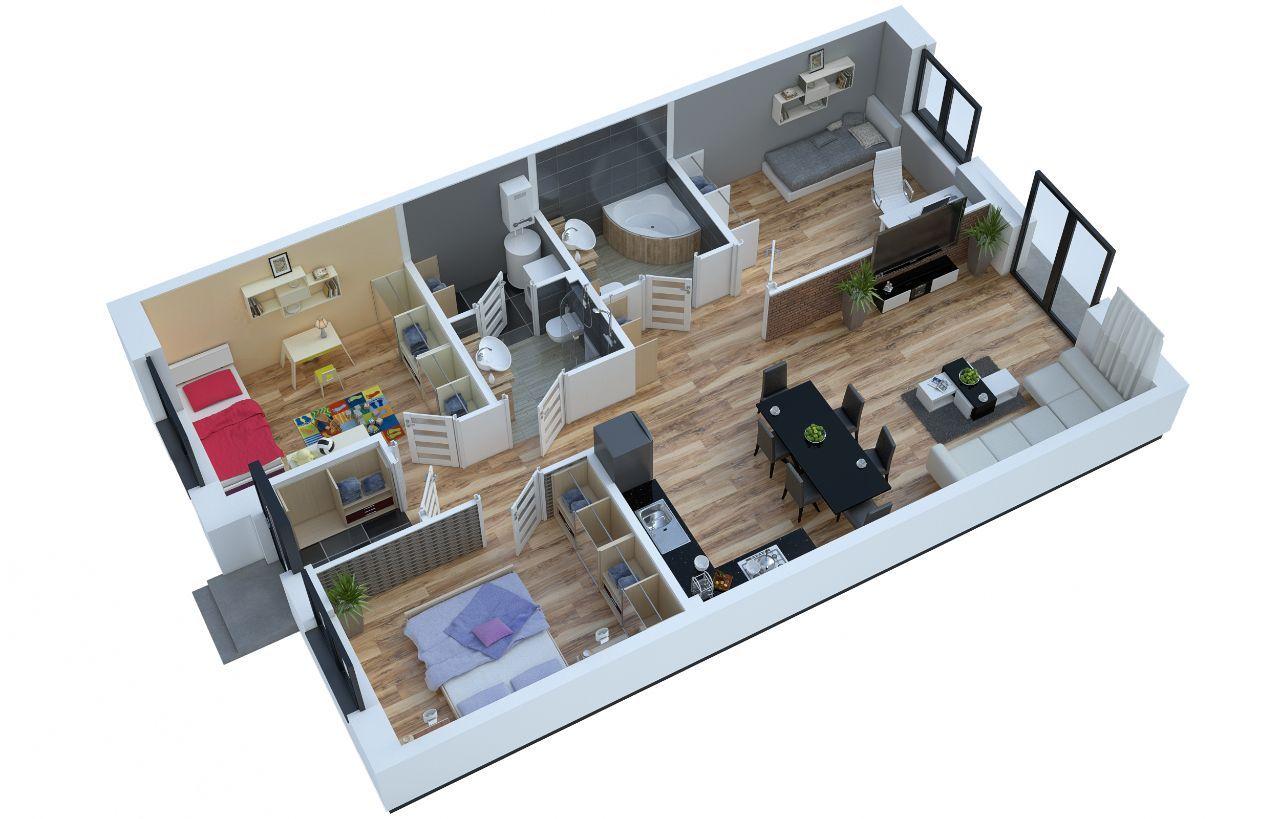 Apartament Wesoła - Nowy Otok - B2