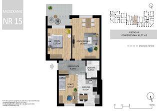 Mieszkanie III-cie piętro , 61 m2