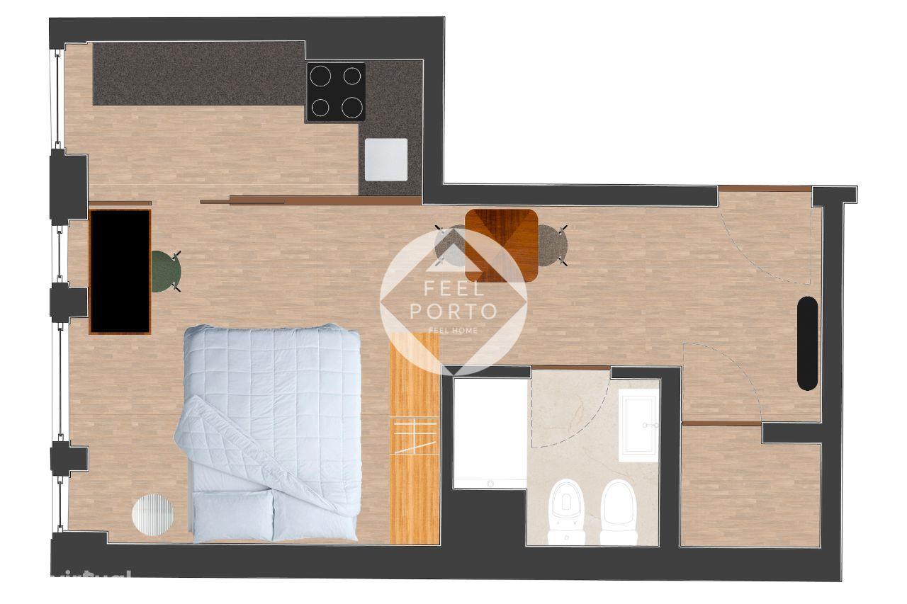 Apartamento T0 na cidade do Porto