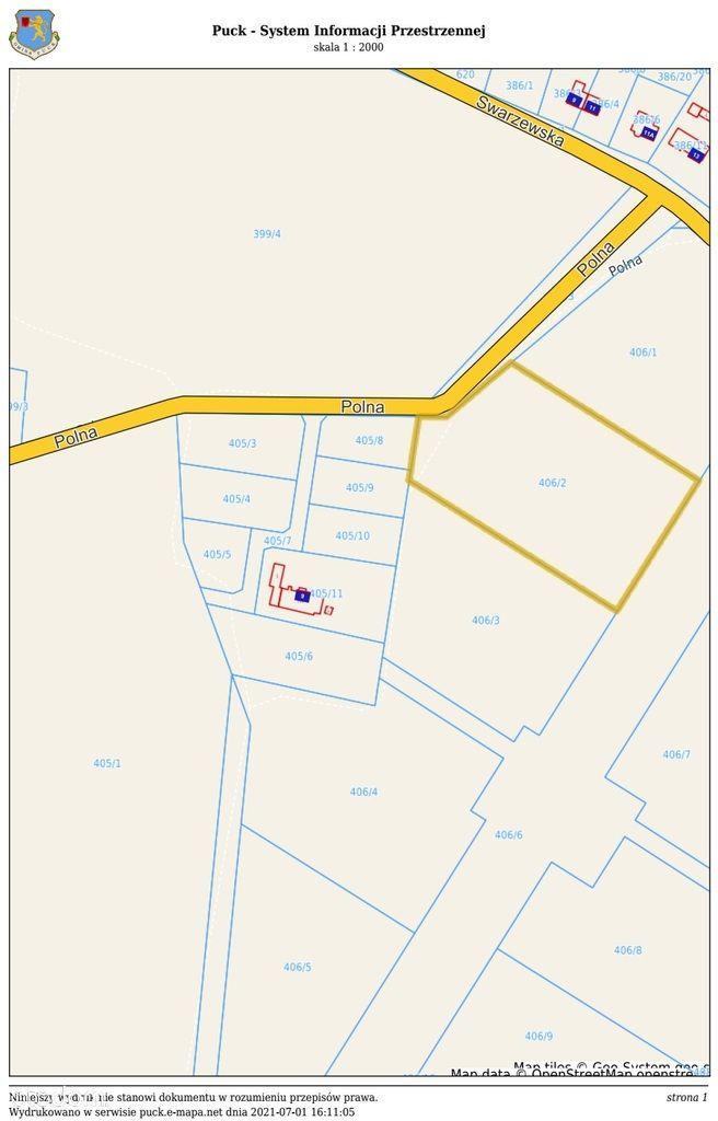 Działka, 10 039 m², Łebcz