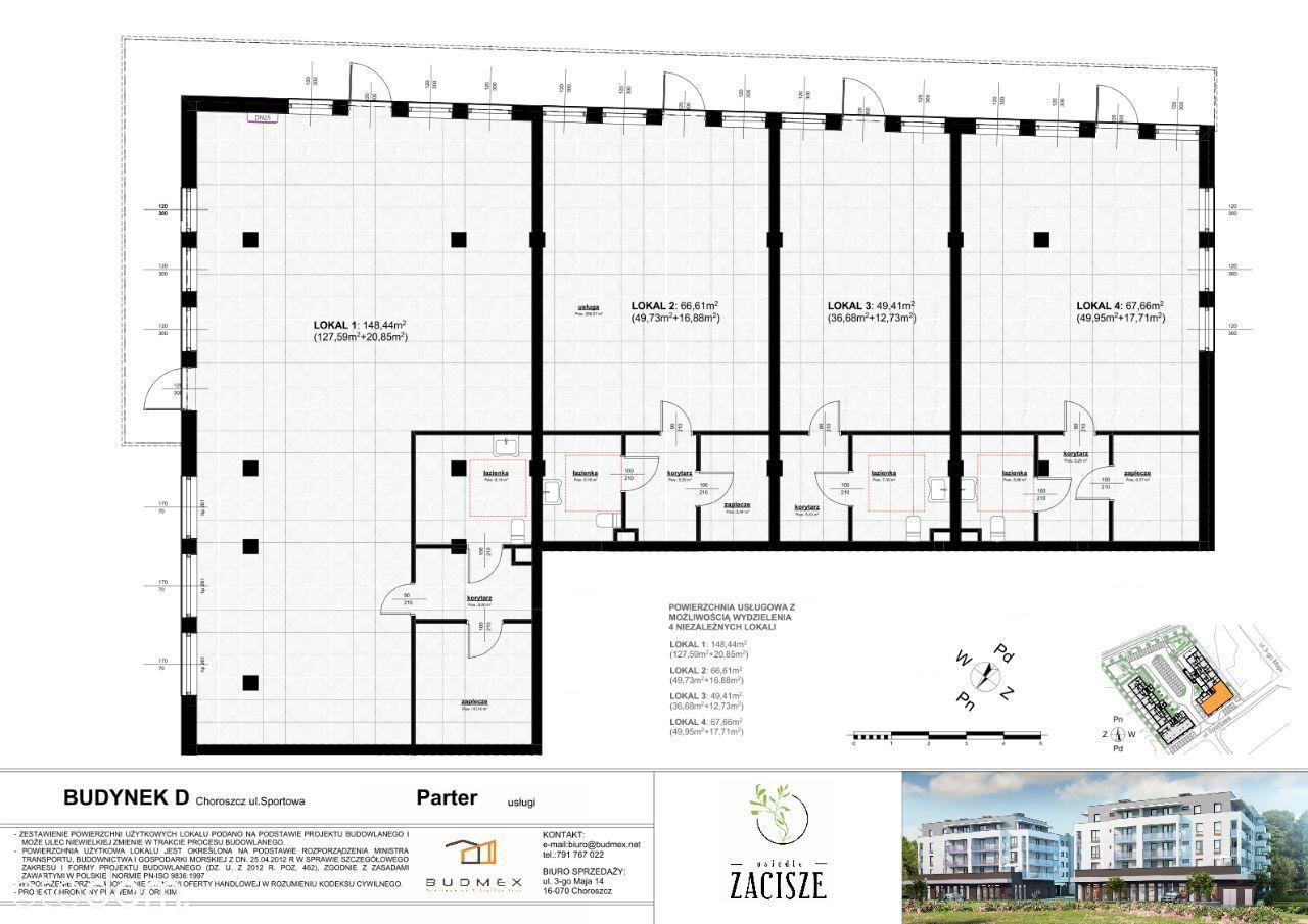 lokal usługowy 67,66 m2 idealny pod sklep biuro!
