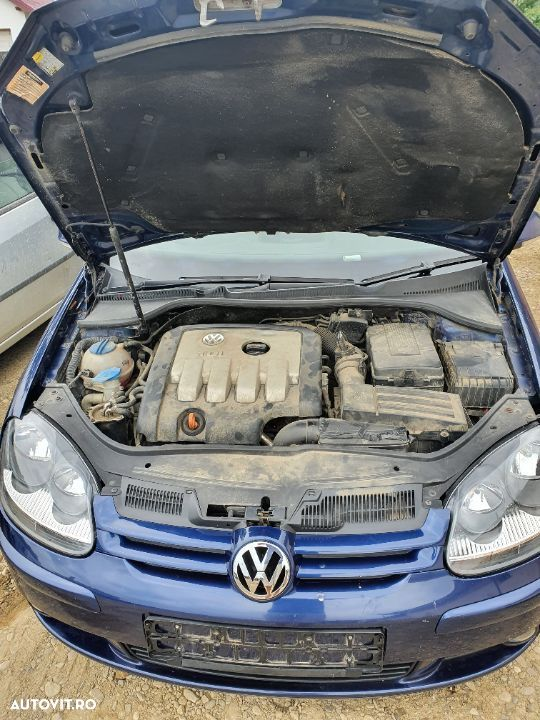 Motor complet fara anexe Vw Golf 5 an 2005 140 Cp cod BKD pompa injectie compresor clima Ac radiator - 1
