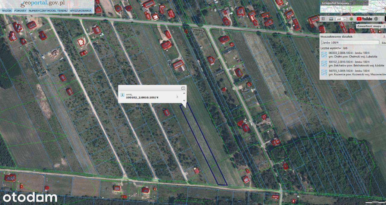 Działka budowlano-rolna 6km od Bełchatowa