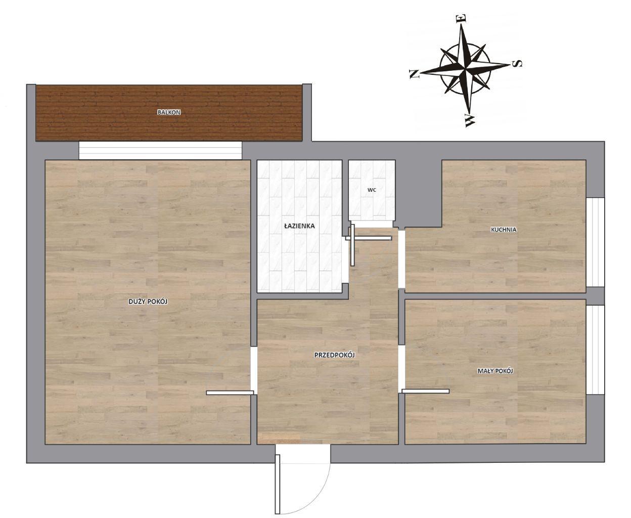 Mieszkanie M-2 / 42.42m2 / Retkinia / sprawdź opis