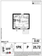 LakeCity. Mieszkanie jednopokojowe (D.02)