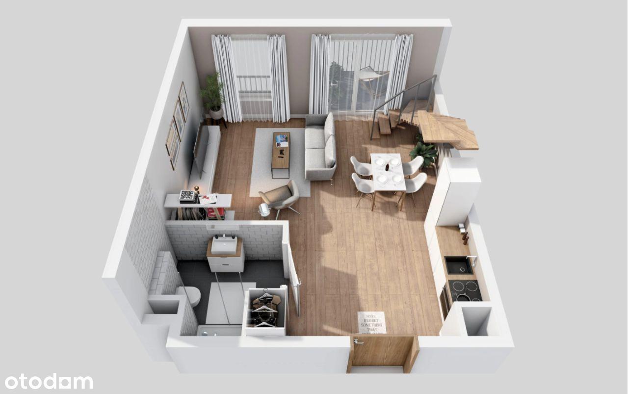 dwupoziomowe mieszkanie z tarasem na dachu - nowe