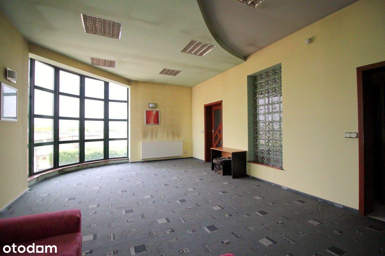 Hala 340 m2,biurowiec 115 m2, garaże, działka 2507