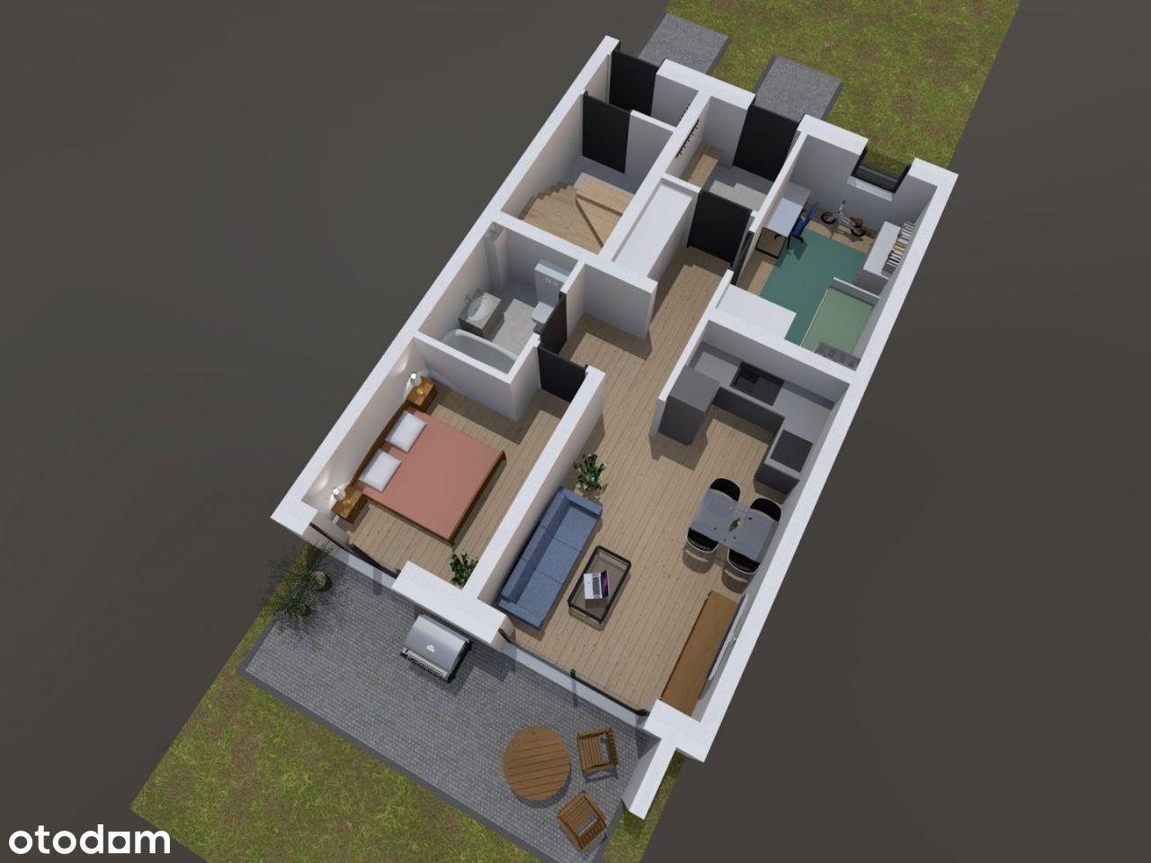 Mieszkanie z ogródkiem 40/50m2 | POŁUDNIE