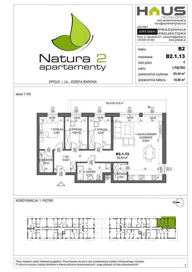 Apartamenty Natura! 4pokojowe z dużym balkonem!