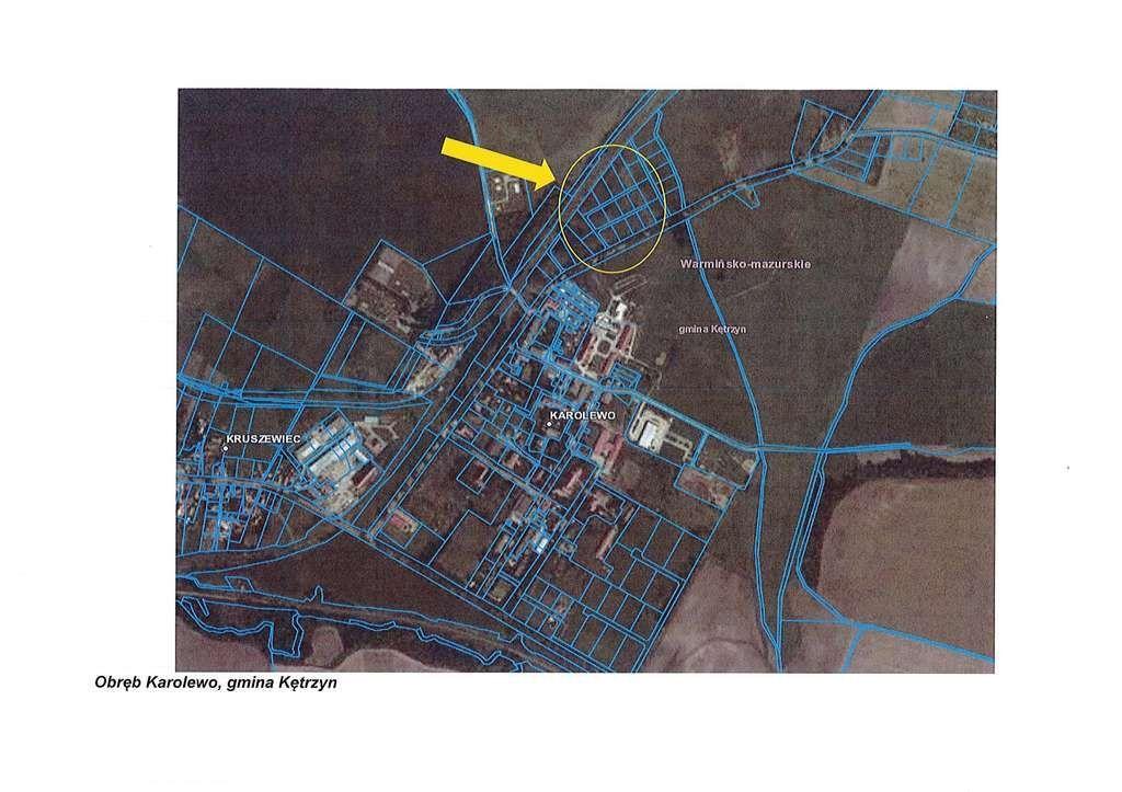 Działka, 1 279 m², Karolewo