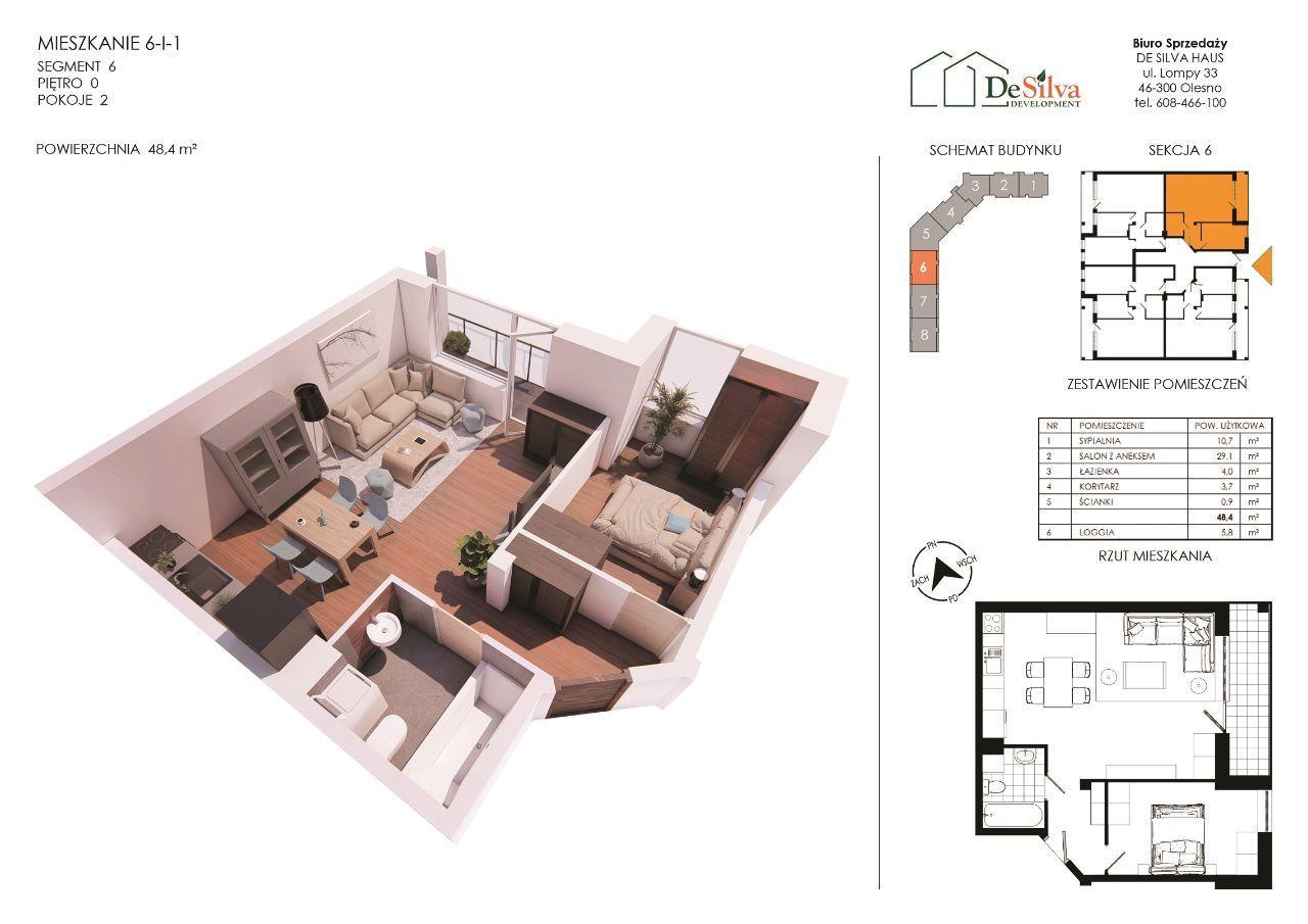 Małe mieszkanie 2-pokoje Nowy blok z garażem 6-1-1